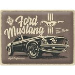 Metal Sign Ford Mustang, The Boss