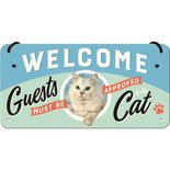 Hanging sign Welcome Cat