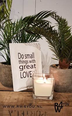 Geurzakje 'do small things with great love'
