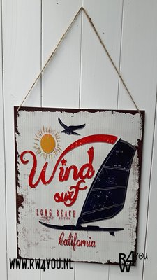 wanddecoratie Wind Surf Long Beach