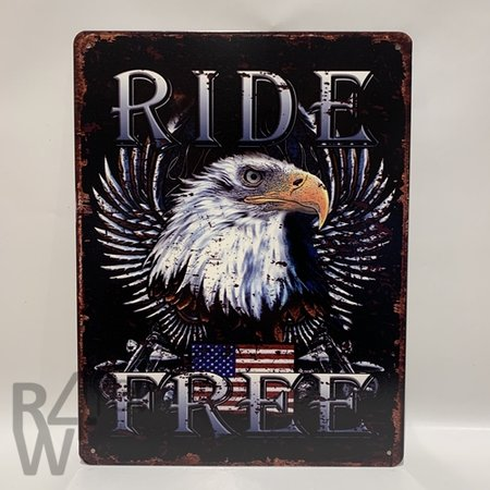 Ride Free - American Eagle metalen bord