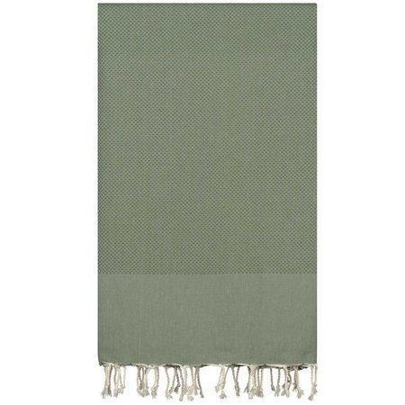 Plaid Grand foulard Honeycomb - Almond Green