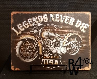 Legends never die, harley davidson